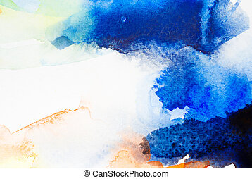 Water color background - Abstract colorful water color art ...