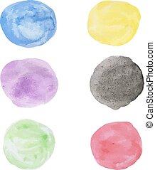 Water color circle