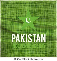 water color creative pakistani day star. Pak Wallpaper. New Pakistani Freedom Day 2017. Vector 14 August Pakistan Independence Day. Celebration Card. Illustration