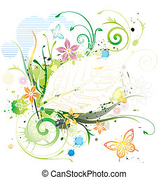 Water Color Floral - Water color Floral Frame vector...