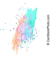 Water Color Paints - Water Color Images on white