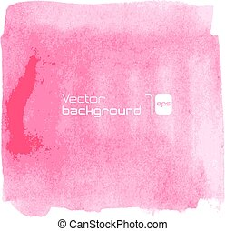 Water-color pink background.