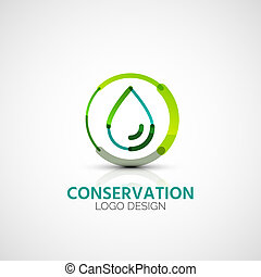 Water conservation company logo, business concept