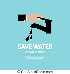 Water Conservation Illustration Conceptual Vector EPS10