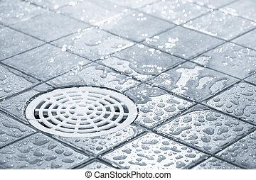 Water consumption - Floor drain, running water in shower,...