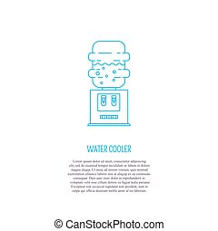 Water cooler and place for your text - Vector logo design...