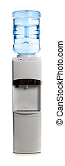 A water cooler on a white background