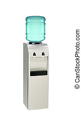 Water cooler with bottle isolated