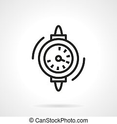 Water counter black line vector icon