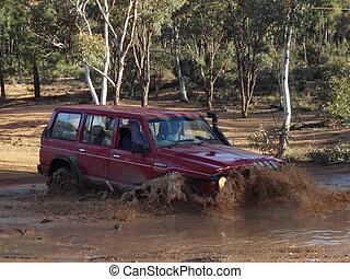 Water Crossing - Splash in a car