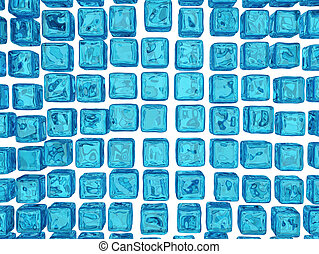 Water Crystal Cube Background