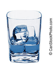 water, cubes., witte , vrijstaand, ijs