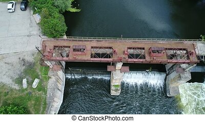 Water dam on a river