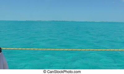 water, de caraïben, duidelijk, zee