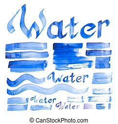 Water decorative elements collection