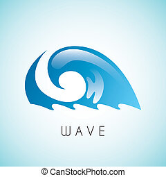 water design over blue background vector illustration