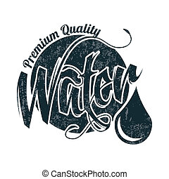 water design over white  background vector illustration