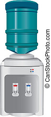 Water Dispenser - Water dispenser hot and cold. Vector...