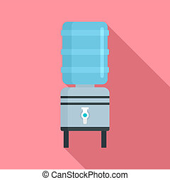 Water dispenser icon, flat style