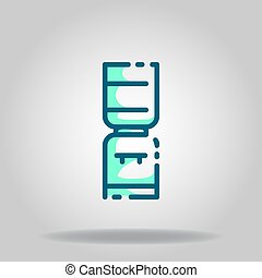 water dispenser icon or logo in  twotone - Logo or symbol of...