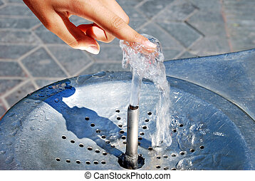 Water drinking fountain