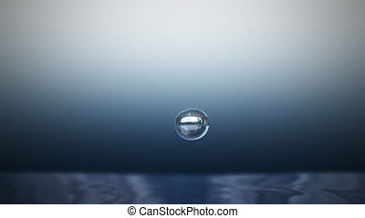 Water drop - A drop falling into water.Slow motion technique