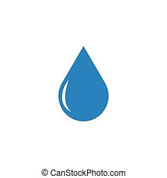 Water drop abstract graphic design template