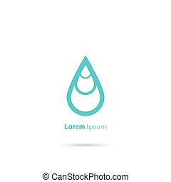 Water drop abstract vector logo design template. Liquid...