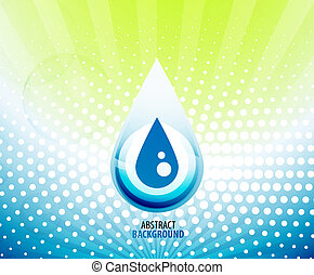 Water drop background