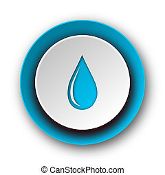 water drop blue modern web icon on white background
