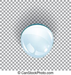 Water drop blue on a transparent background. Vector illustration