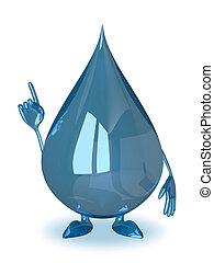 Water drop character, idea - Water drop character in moment...