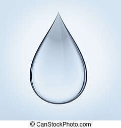Water drop - Clear water drop isolated with clipping path