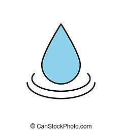 Water drop color icon