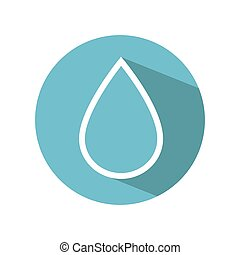 water drop ecology icon