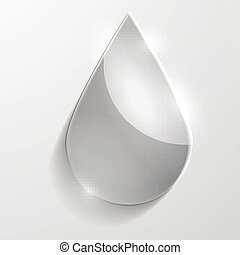 Water drop glass icon.