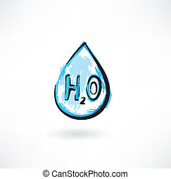water drop grunge icon