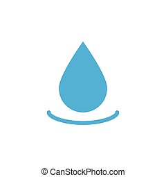 Water drop icon design template vector isolated