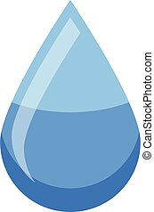Water drop icon, isometric style