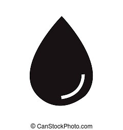 water drop icon vector illustration