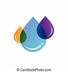 water drop icon with transparent color