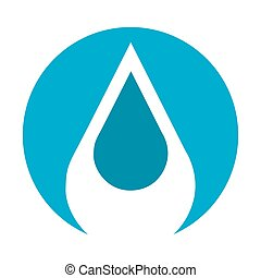 water drop isolated icon design