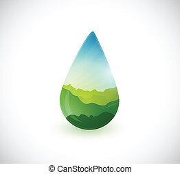 water drop landscape info graphics illustration