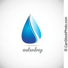 Water drop logo icon design