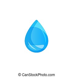 Water drop on light background. Transparency only in vector format.