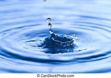 Water drop on liquid surface