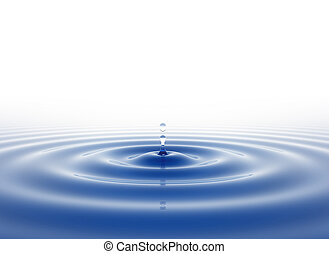 Water drop on white background
