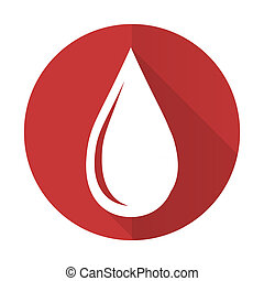 water drop red flat icon