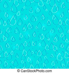 Water Drop Seamless Pattern
