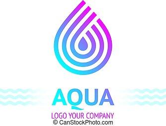 Water drop sybol, bright color - Water drop symbol, logo ...